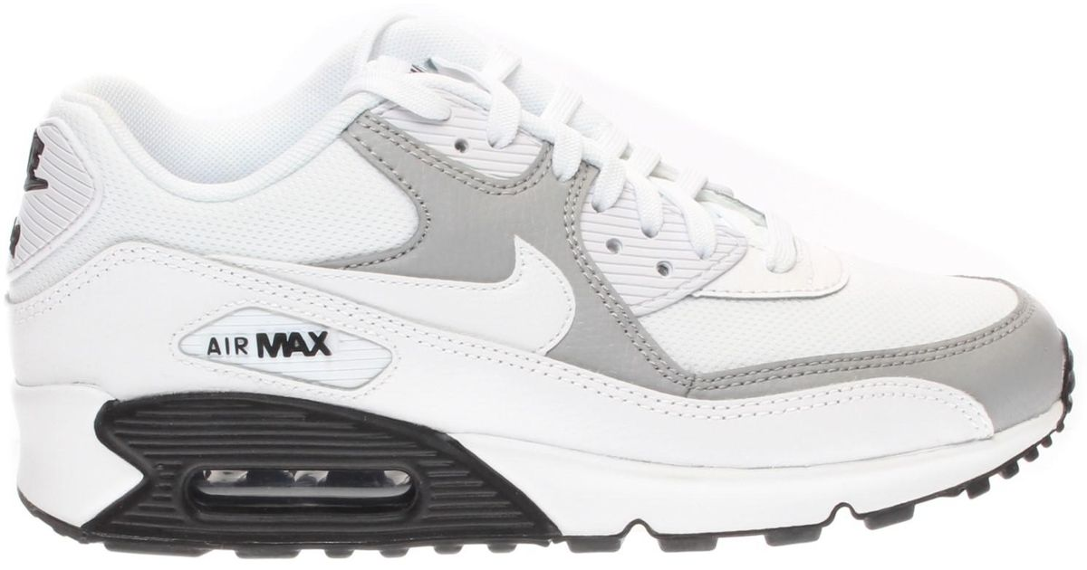 buy popular 019e8 e40a7 Lyst - Nike Air Max 90 White white wolf Grey black Running Shoe (6) in White