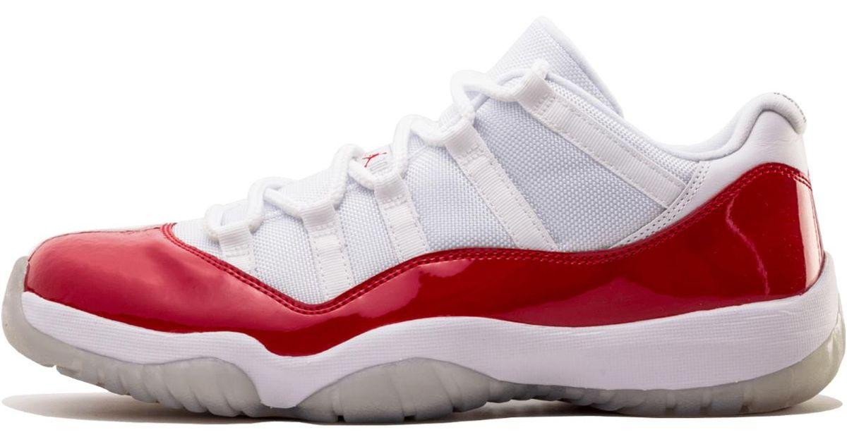 bf6d9149f48 Lyst - Nike Mens Air Jordan 11 Retro Low White varsity Red-black 528895-102  Size 12 in Red for Men