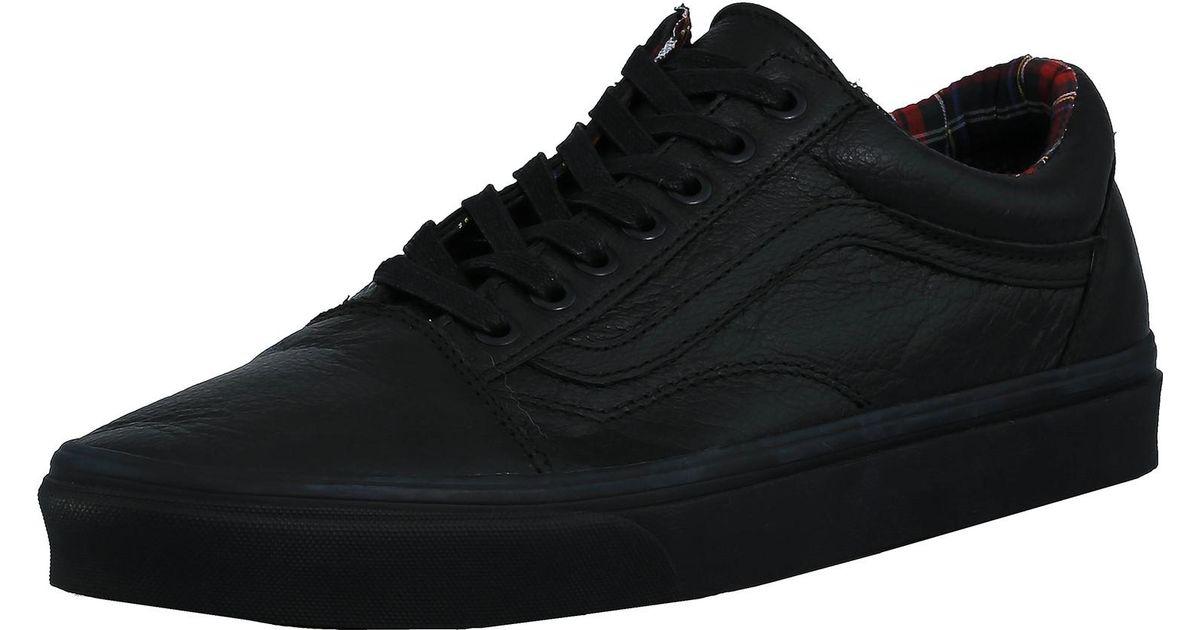 Lyst - Vans Old Skool Leather Black   Plaid Ankle-high Leather  Skateboarding Shoe in Black for Men 80ed3ddf5224