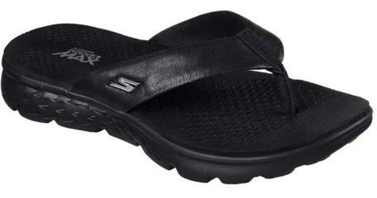 30f3278585be Lyst - Skechers On The Go 400 Essence Thong Sandal in Black