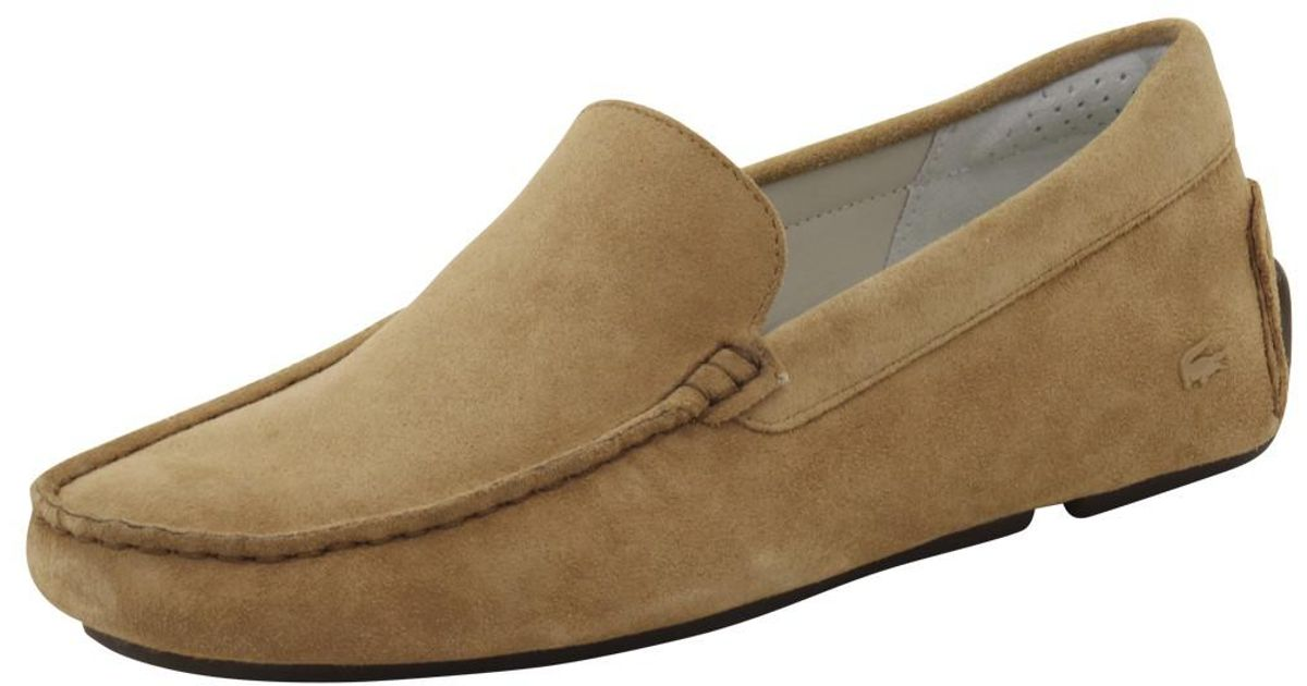 32fe1bb03 Lyst - Lacoste Piloter 316 2 Fashion Light Tan Suede Loafers Shoes in Brown  for Men