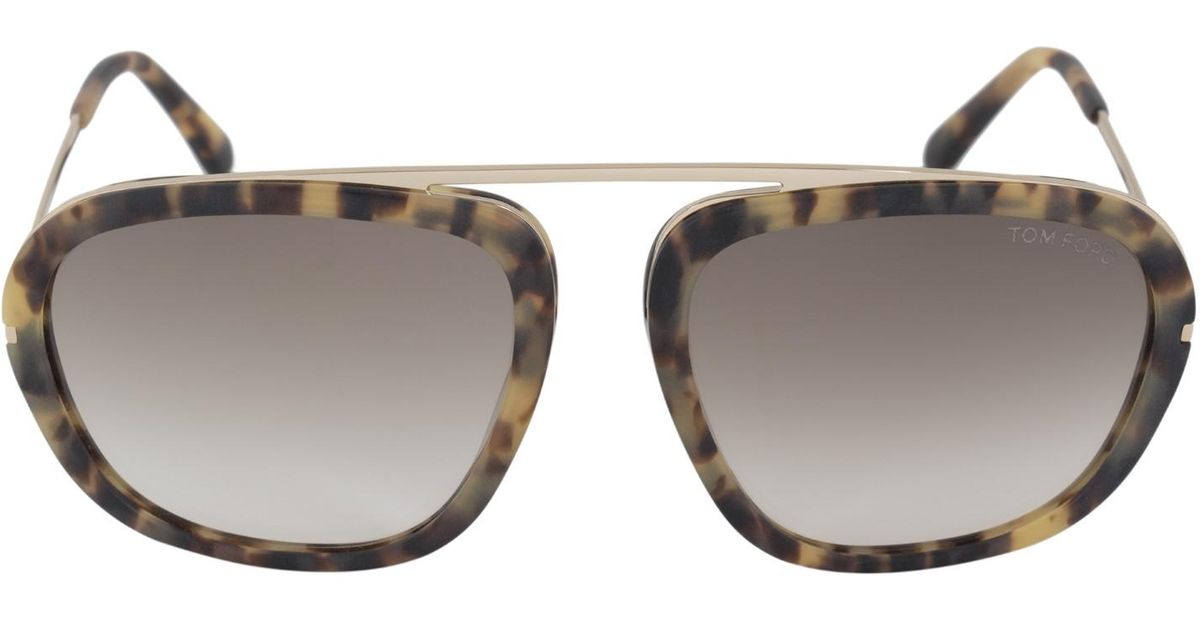 b56ff73295e Lyst - Tom Ford Ft0453 Johnson Sunglasses Blonde Havana   Gradient Brown in  Brown
