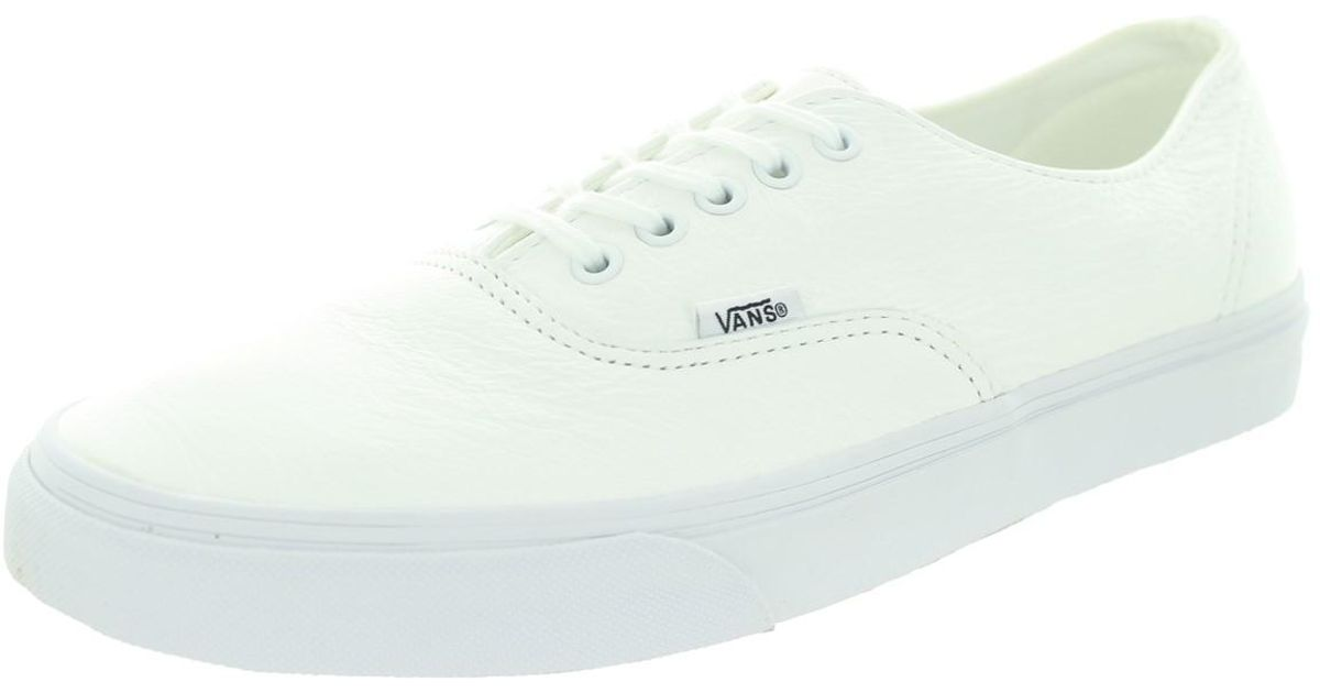 c6443fe0726391 Lyst - Vans Unisex Authentic Decon (premium Leather) True White Skate Shoe  8 Men Us   9.5 Women Us in White for Men