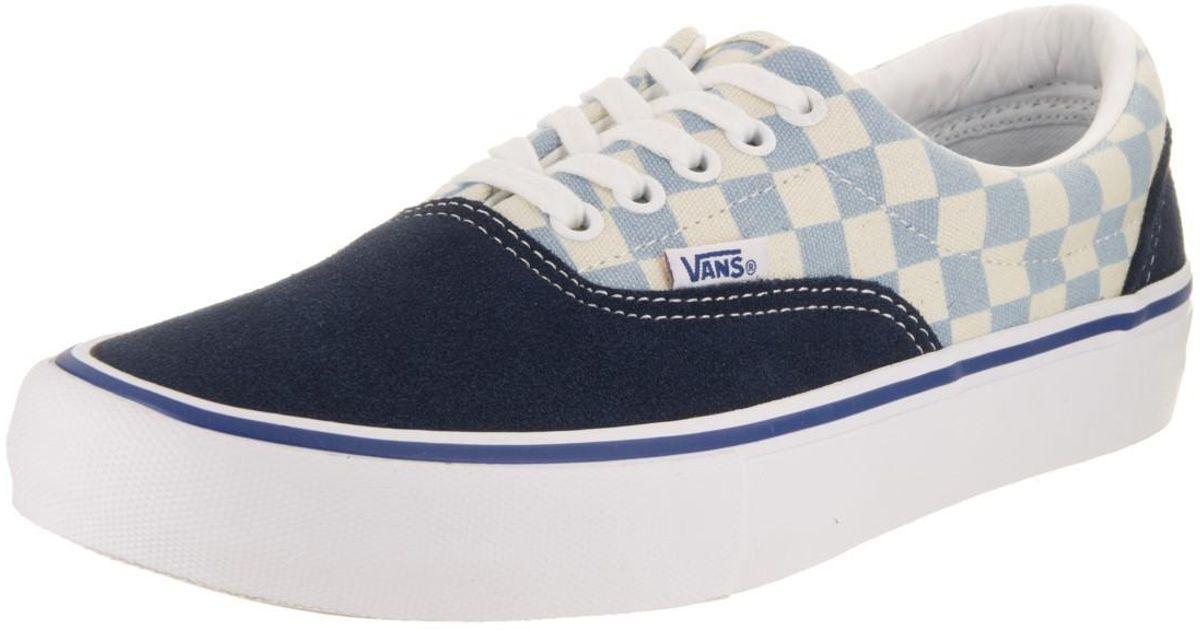 5d2d36cfaa4771 Lyst - Vans Era Pro (checkerboard) Dress Blue Skate Shoe 9 Men Us in .