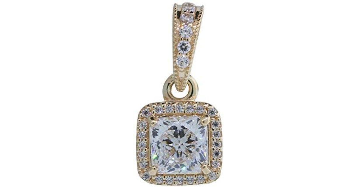 833a3e2f0 PANDORA 350180cz 14k Yellow Gold Timeless Elegance Pendant in Metallic -  Lyst