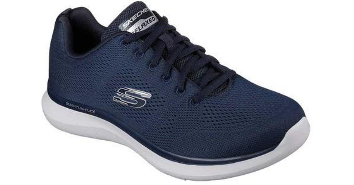 Skechers Men's Quantum Flex Rood Navy and Gray Sneaker