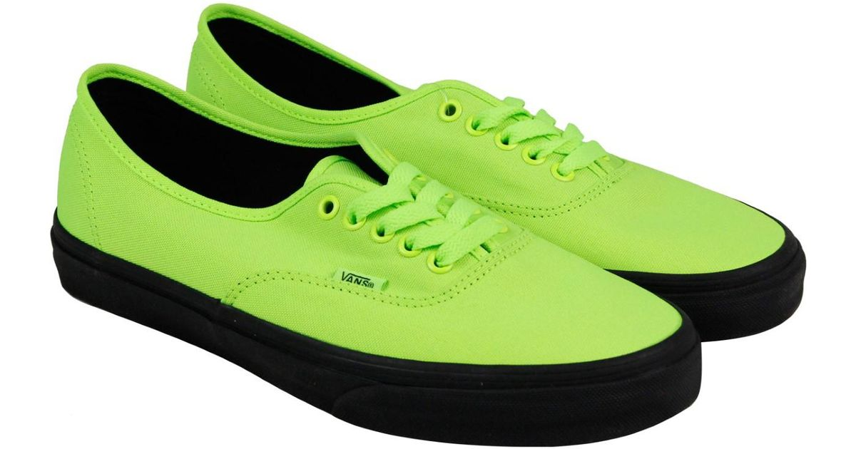 dd5d776fb79c06 Lyst - Vans Authentic Neon Green Bk Mens Lace Up Sneakers in Green for Men