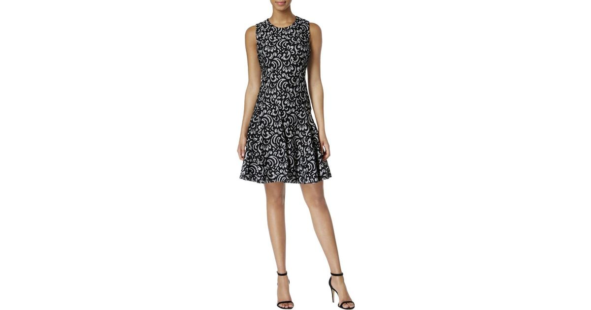 Lyst tommy hilfiger sleeveless lace special occasion dress in black