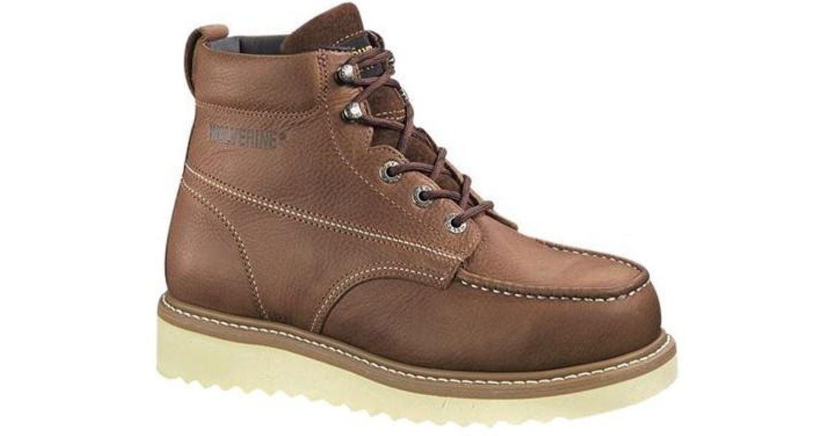9e16e0852226 Lyst - Wolverine Unisex Moc-toe Wedge Heel Work 6