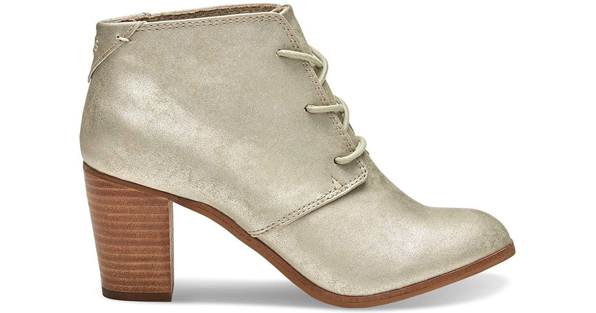 011715b47d2 Lyst - Toms Lunata Lace-up Booties in Natural