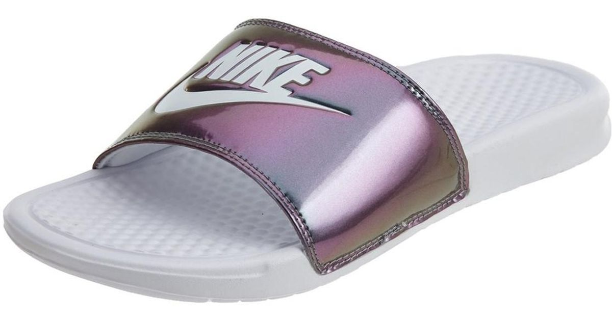 huge selection of f3a63 d504c Nike Benassi Jdi Print Nk618919 107 in Purple - Lyst