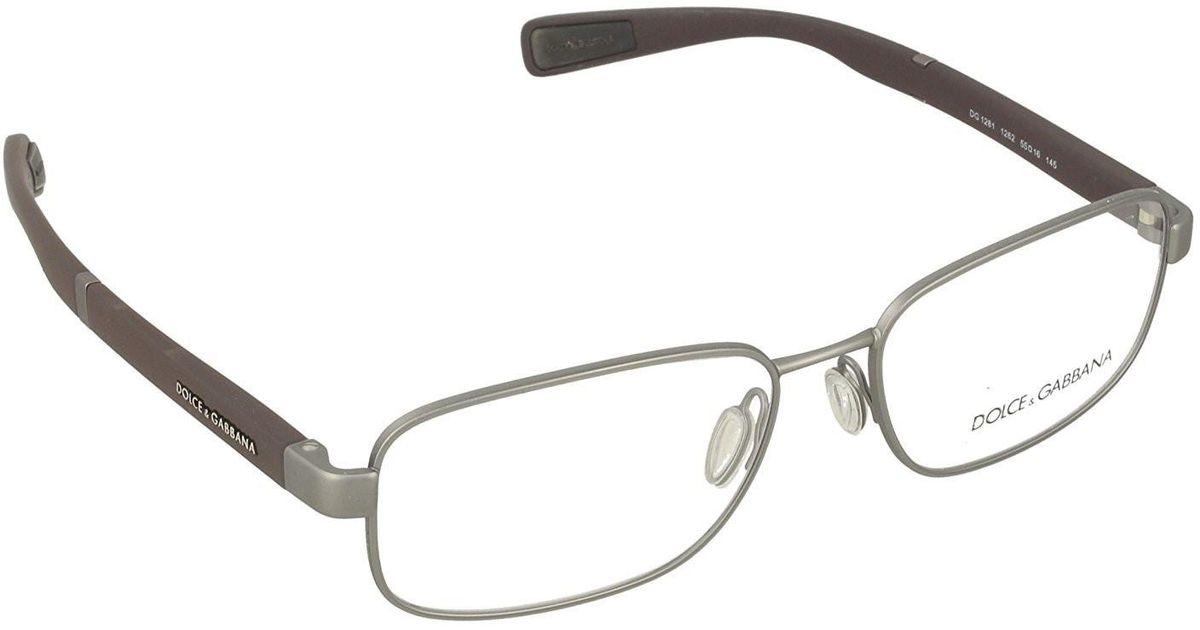c216be5b0a Lyst - Dolce   Gabbana Dolce gabbana Dg1281 Eyeglass Frames 1288-53 in  Metallic