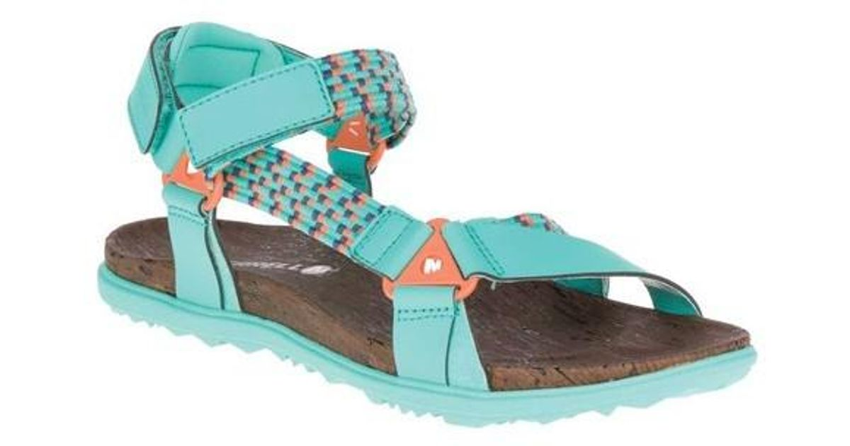 33225093d36ef Lyst - Merrell Around Town Sunvue Woven Active Sandal in Blue
