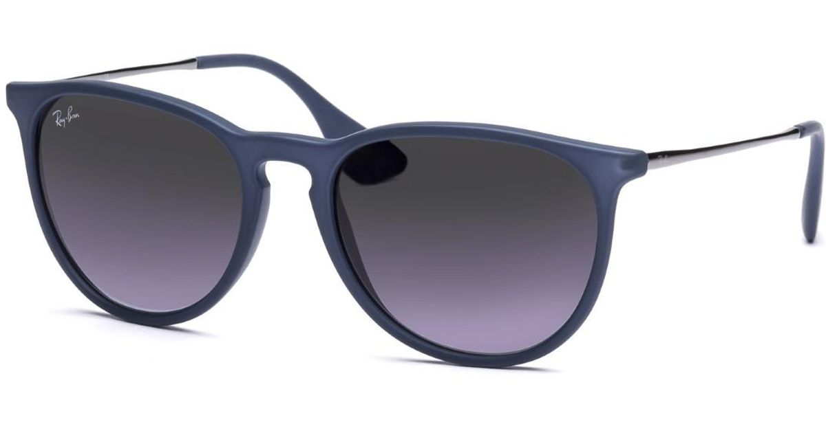 6a48d8e80a3 Lyst - Ray-Ban 0rb4171 60028g 54 Rubber Blue grey Gradient Erika Youngster  Sunglasses - Bundled Item With Cleaning Kit in Blue