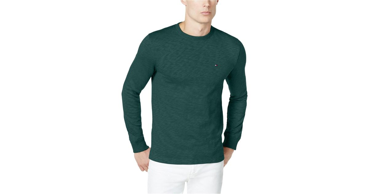 11b8ce134 Lyst - Tommy Hilfiger Henson Basic T-shirt in Green for Men - Save 10%