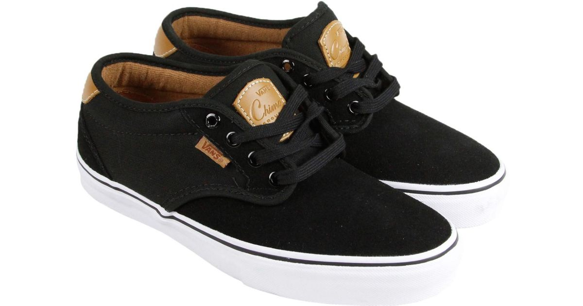 b0e2706749 Lyst - Vans Chima Estate Pro White Tan Lace Up Sneakers in Black for Men