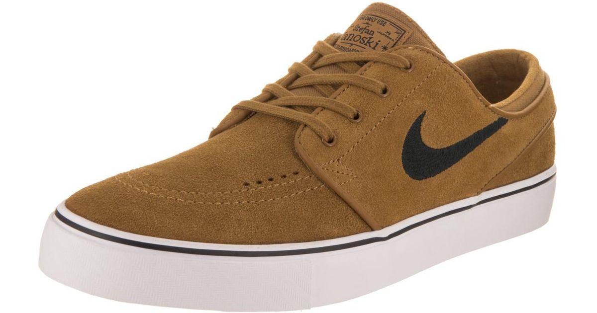 5fdd5b84cf0d Lyst - Nike Zoom Stefan Janoski Golden Beige black Skate Shoe 8.5 Men Us in  Natural for Men