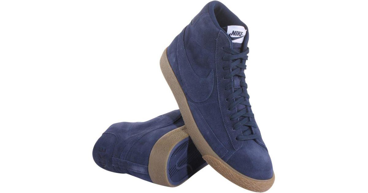 premium selection 556ca 639bc Lyst - Nike 429988-403 Men Blazer Mid Prm Binary Blue Gum Li in Blue for Men