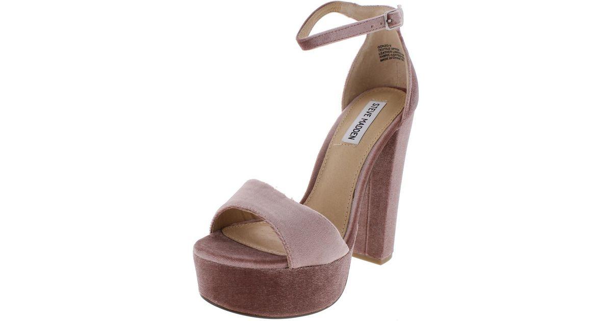 5d7c547d119 Lyst - Steve Madden Gonzo-v Velvet Platform Dress Sandals