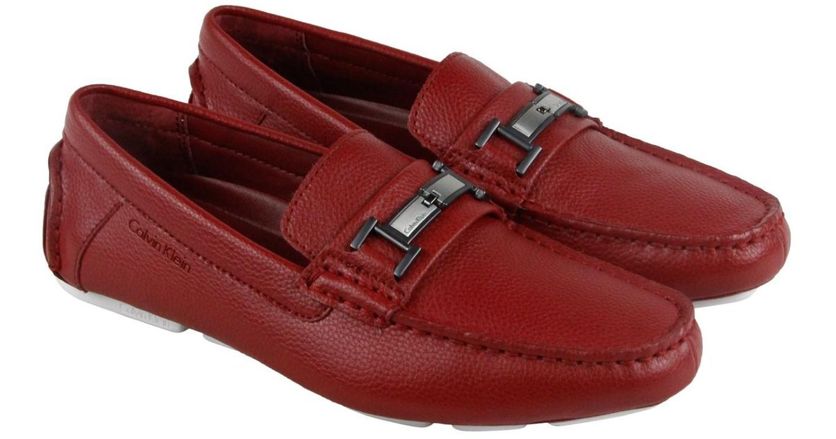 22f39bb5437 Lyst - Calvin Klein Magnus Casual Dress Loafers in Red for Men