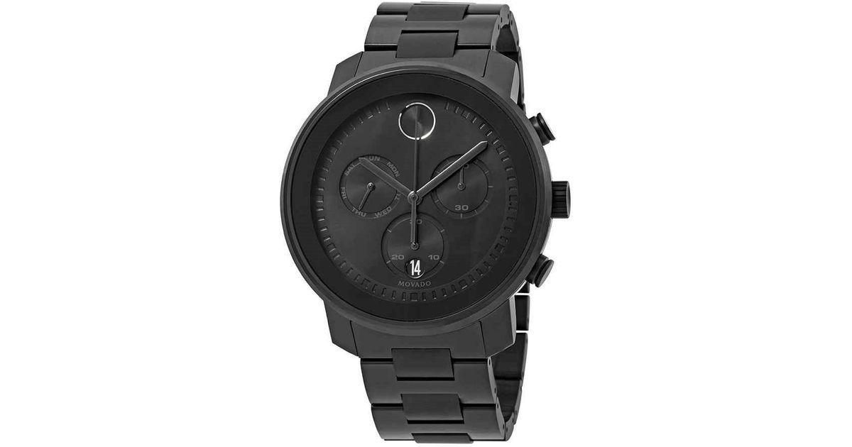 fd6cc1854 Movado Bold Chronograph Dial Watch 3600484 in Black for Men - Lyst
