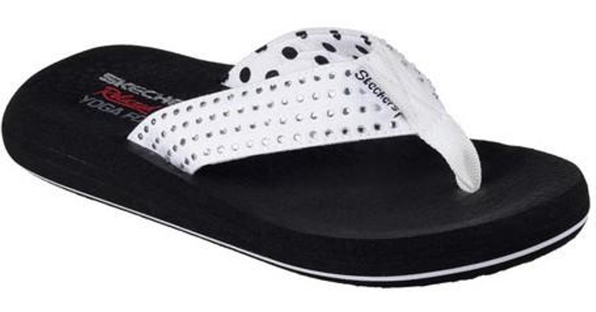 5cbff008e09b Lyst - Skechers Asana Flip-flop Thong Sandals From Finish Line in White