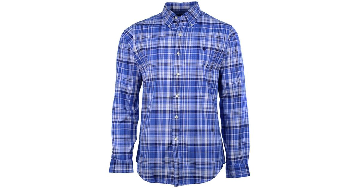 c37f16c6 Polo Ralph Lauren - Long Sleeve Plaid Button Down Shirt-blue/white-small  for Men - Lyst