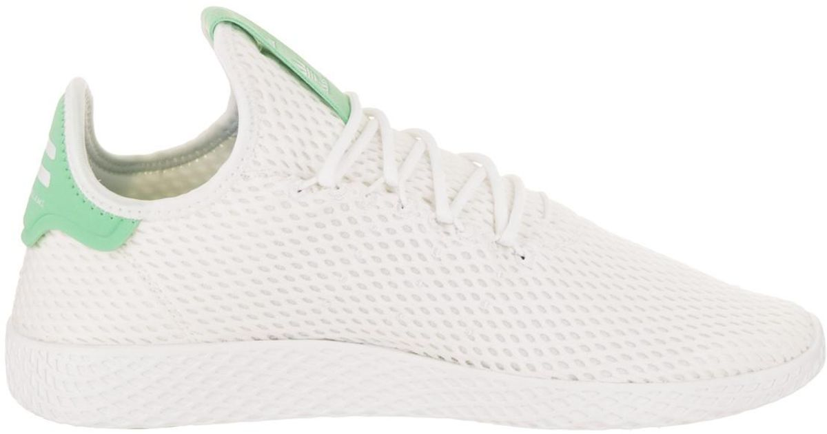 innovative design 5091a 78d16 adidas -WhiteWhiteGreen-Glow-Pharrell-Williams-Tennis-Hu-Originals-Casual-Shoe-12- Us.jpeg