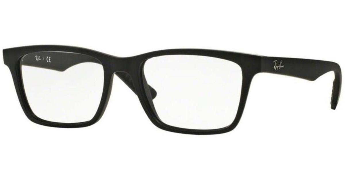 7b8dd9782b4 ... netherlands lyst ray ban eyeglasses optical rx 7025 2077 matte black in  black e3d90 58861