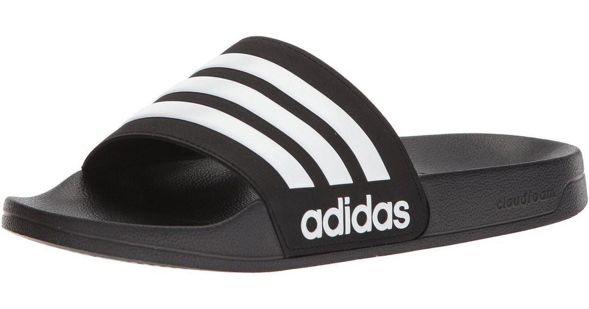 0f150f0e962683 Lyst - adidas Adilette Cf (black white black) Men s Slide Shoes in Black  for Men - Save 43%