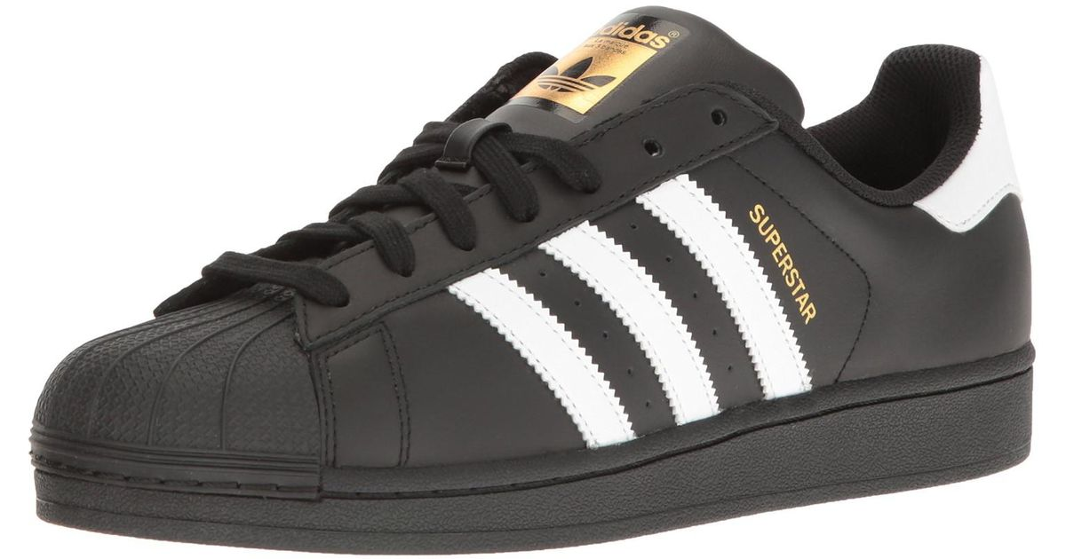 brand new 6b70a 67971 Lyst - Adidas Originals B27140   Superstar Foundation Sneaker Black white  in Black for Men