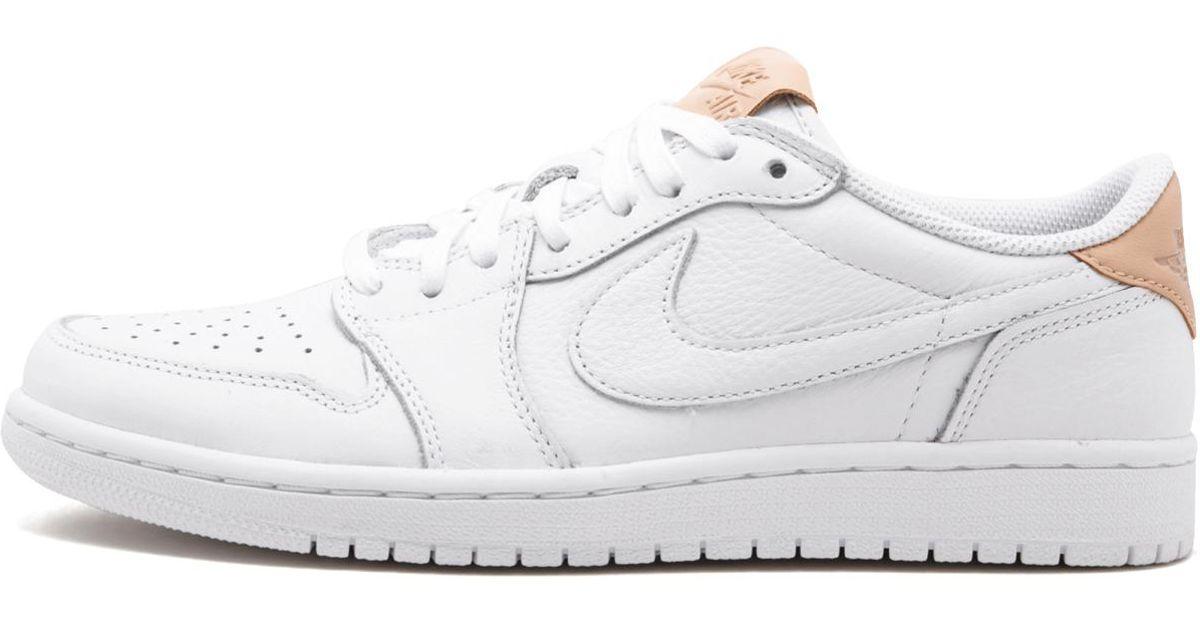 Nike Air Jordan 1 Retro Low Og Premium Whitevachetta Tan white 905136 100 Lyst