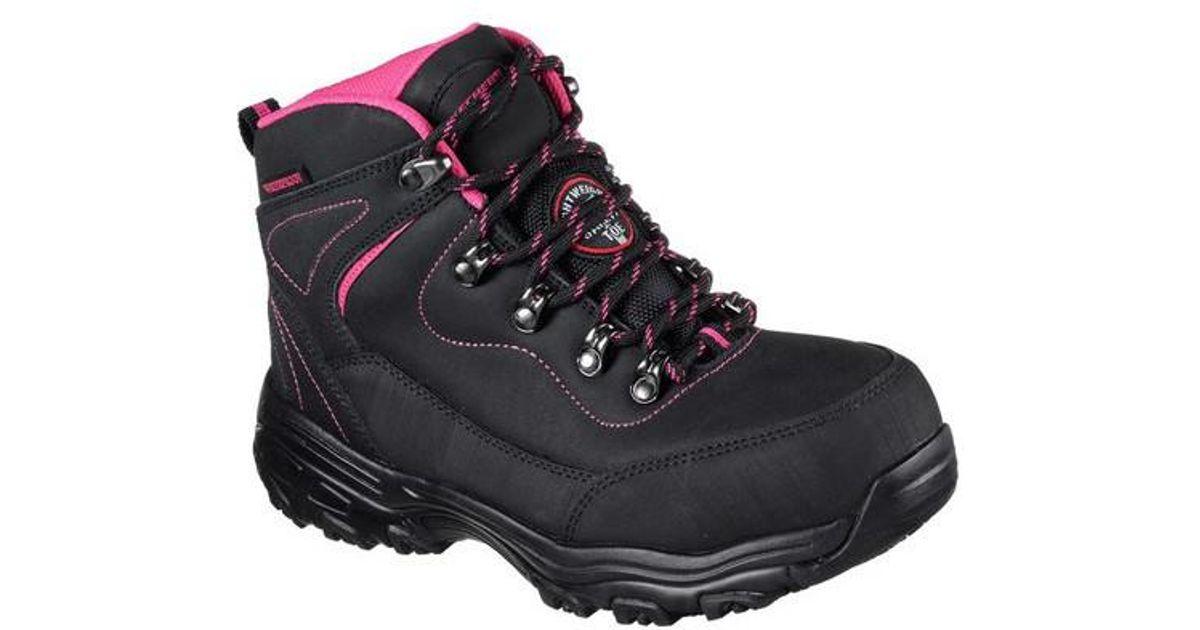b73455a1152e Lyst - Skechers Work D lites Slip Resistant Amasa Alloy Toe Boot in Black