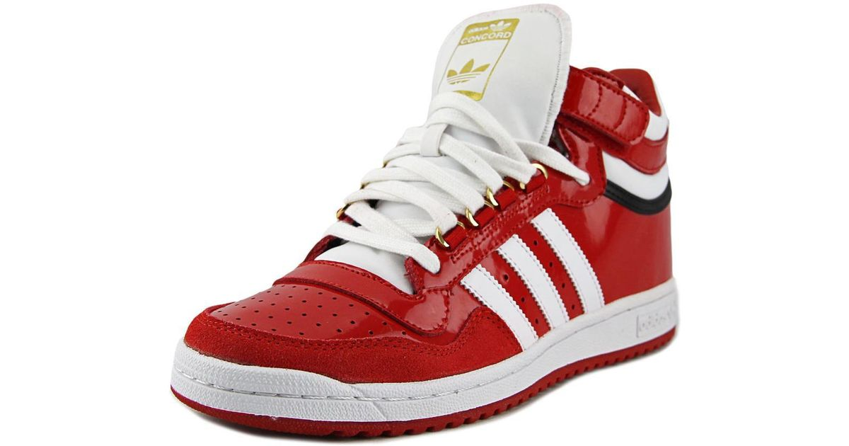 new products 19bfd 7215e Lyst - adidas Concord 2.0 Mid Men Round Toe Patent Leather Red Sneakers in  Red for Men