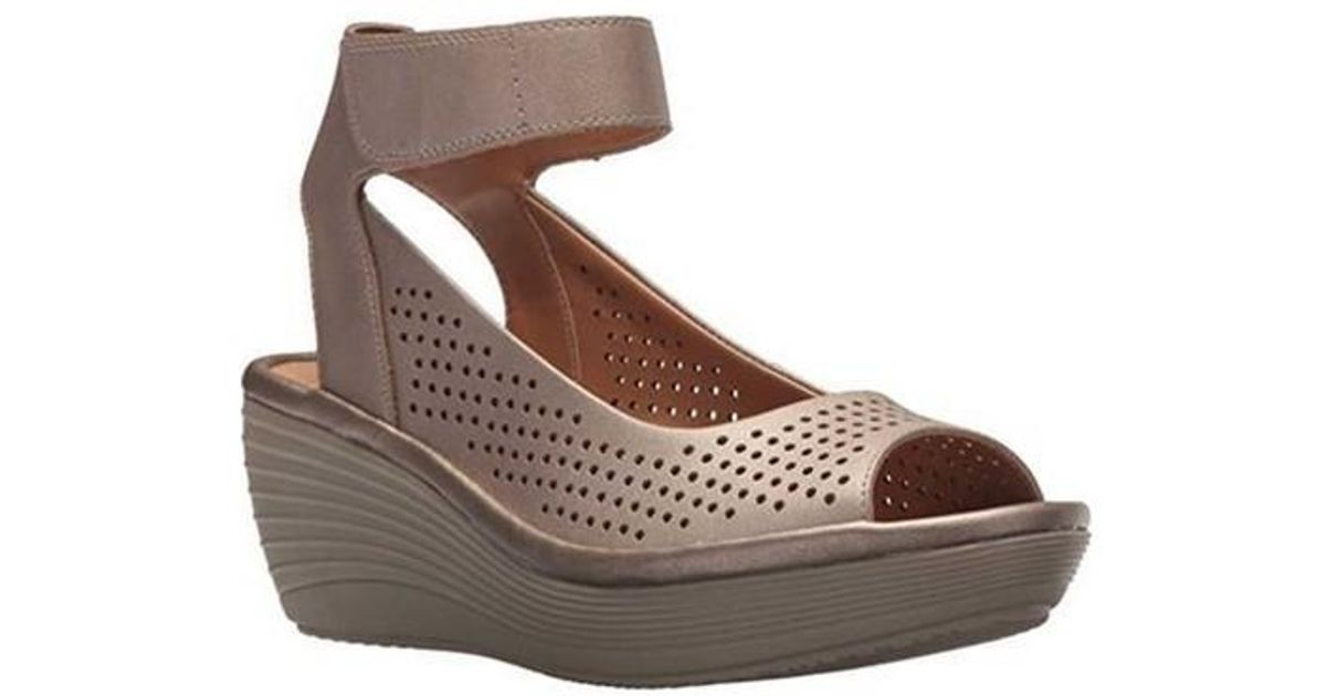 f270681c673 Lyst - Clarks Reedly Salene Wedge Ankle Strap in Brown