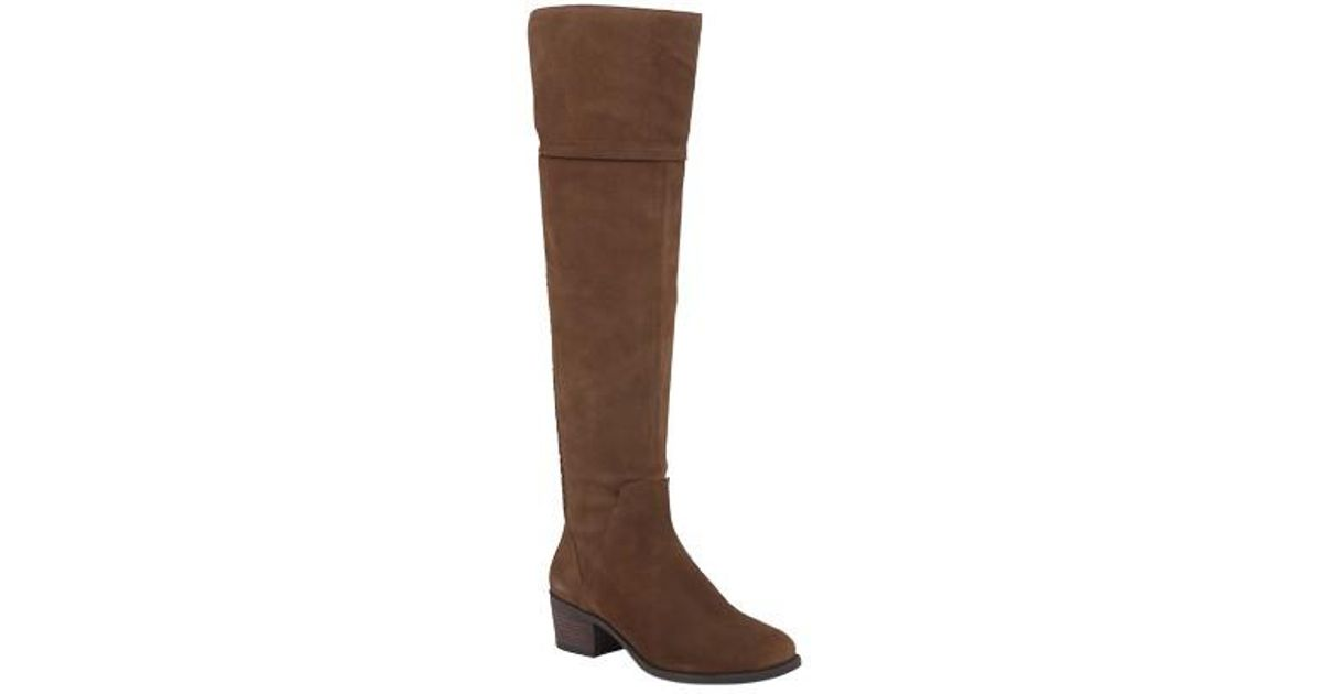 80322cd366b Lyst - Vince Camuto Women s Bendra Over The Knee Boot in Brown