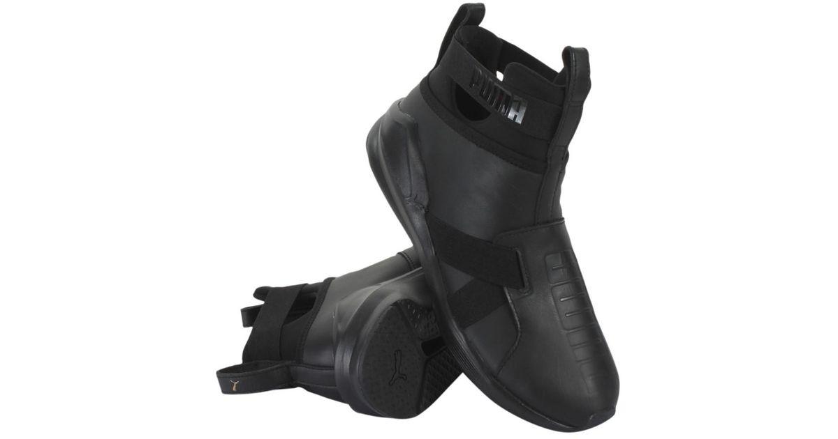 b11a5ec12d5d22 Lyst - PUMA X Fenty By Rihanna Fierce Strap Leather in Black