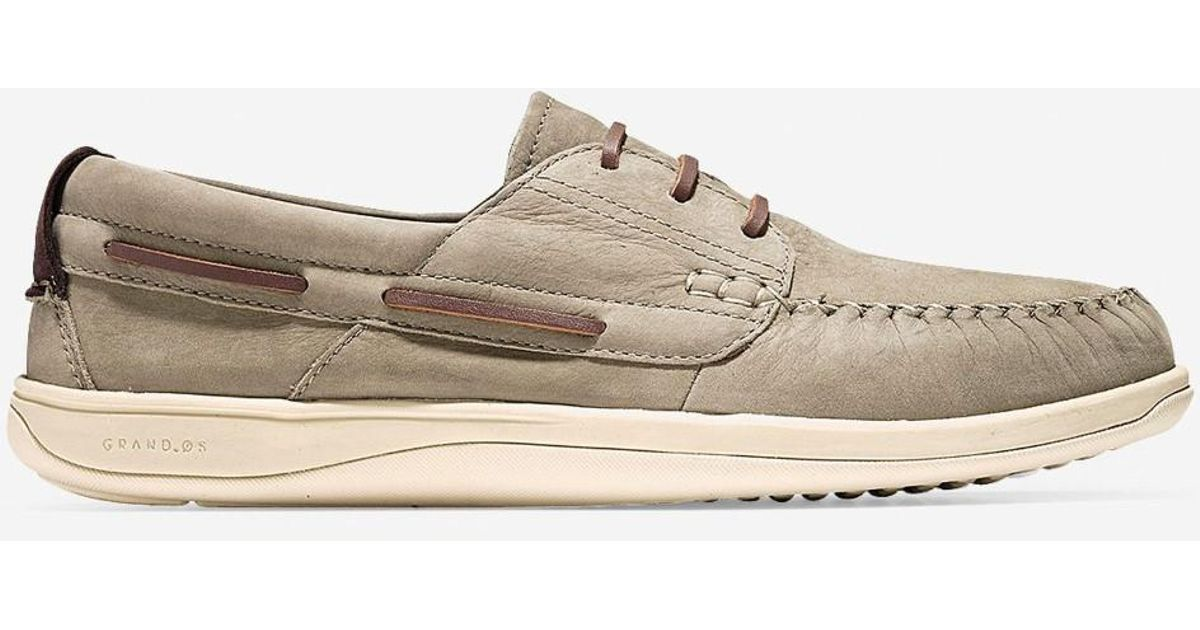 d5f388ae8af Lyst - Cole Haan Men Boothbay Boat Shoes in Gray for Men