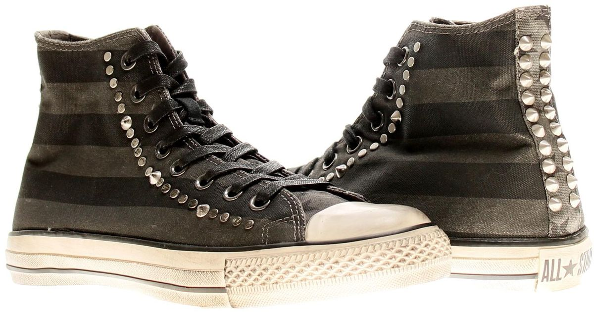 75d0181bf7f0 Lyst - Converse Chuck Taylor All Star X John Varvatos Studded High Top  Sneakers Size 8 in Black for Men