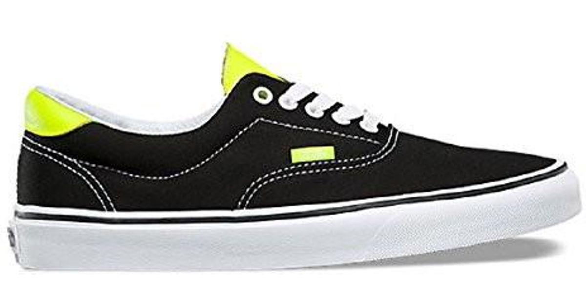 Lyst - Vans Era 59 (neon Leather) Black neon Yellow 10 in Black for Men cff49d407873