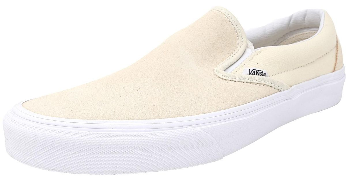 f6dad977f5 Lyst - Vans Classic Slip-on Suede And Canvas Afterglow   True White  Skateboarding Shoe in White