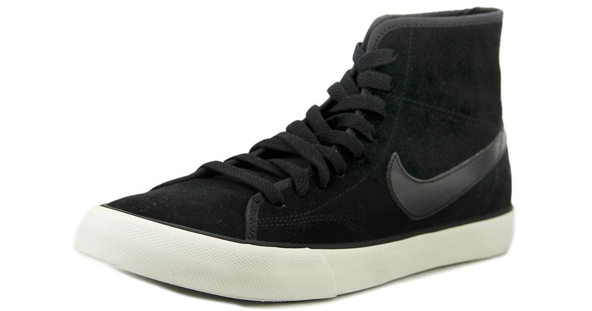 630656 Lyst Ankle Sneaker 002 Nike Canvas In Black High Fashion 5CqqAntw