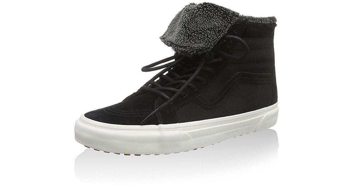 Lyst - Vans Sk8-hi Zip Mte Ca Fleece in Black for Men 8313d1667