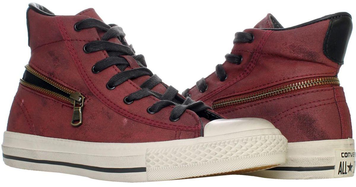 c5aca6e44929 ... greece lyst converse chuck taylor as x john varvatos back zip high top  sneakers 142979c size