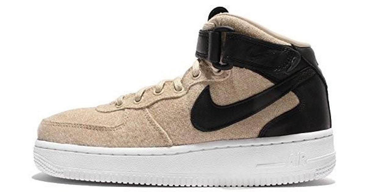 on sale 8b20d a5f23 Lyst - Nike Wmns Air Force 1 07 Mid Lthr Prm in Gray
