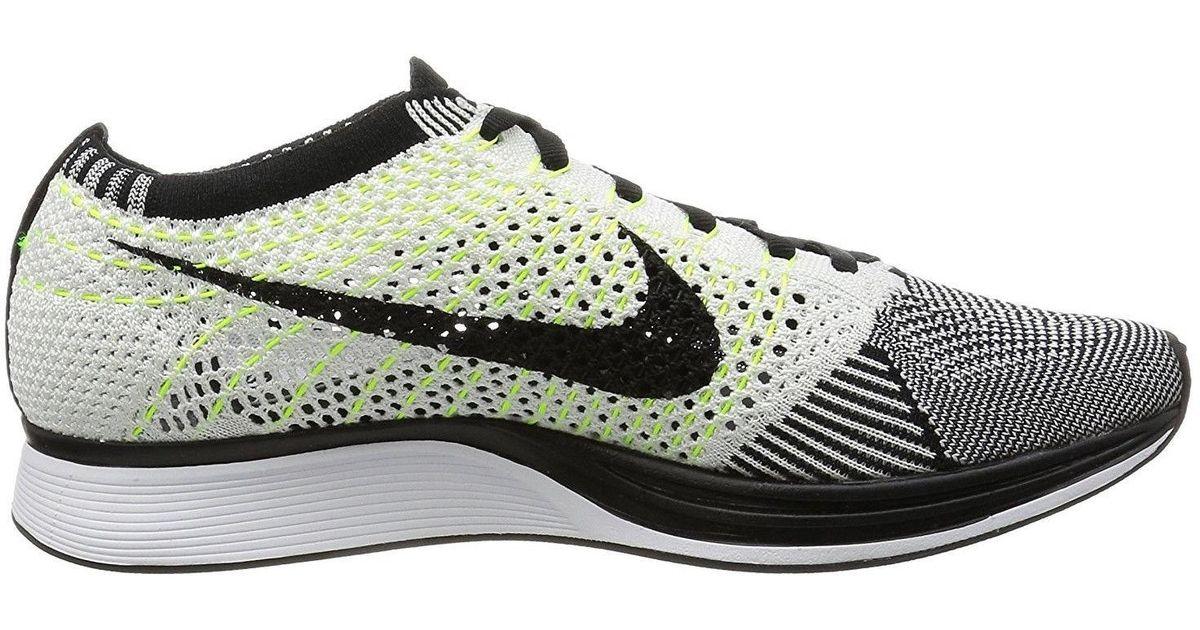 Lyst - Nike Flyknit Racer Black 526628-009 in Black for Men 1fc1baa2e