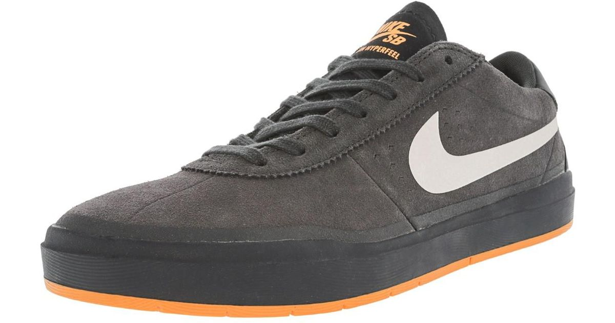 more photos 2ee96 b74ae Lyst - Nike Bruin Sb Hyperfeel Xt Anthracite white Clay Orange Skate Shoe 9  Us in Gray for Men