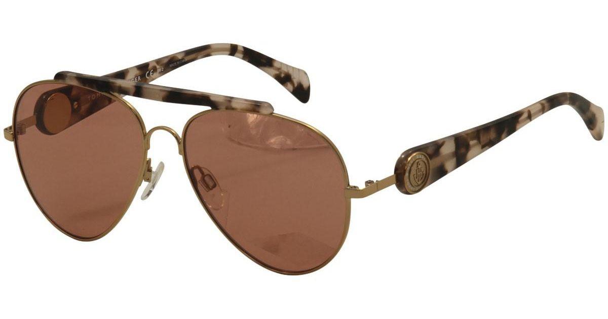 Tommy Hilfiger GIGI Sonnenbrille Gold Havanna und Pink P80 58mm jNN01Nm