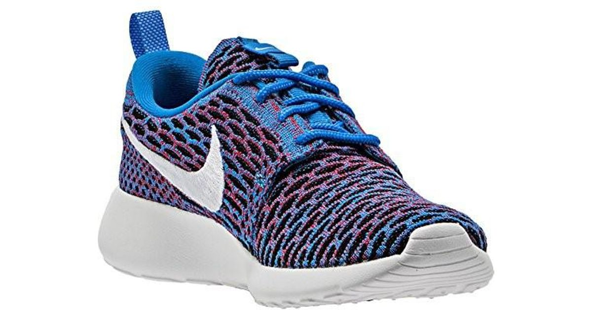 fb257bfcf7c4b Lyst - Nike Roshe One Flyknit Casual Sneakers Photo Blue White Red 704927  404 in Blue for Men