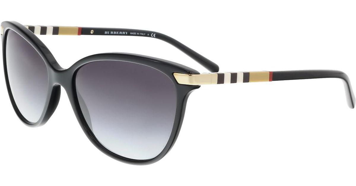5d4c8cfa82d9 Lyst - Burberry Be4216 Sunglasses Black gray Gradient (30018g) 57 16-140 in  Black